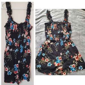 Lily Rose Other - Black floral romper New short medium blue red pink
